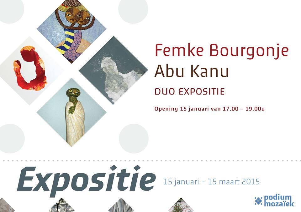 Duo expositie Femke Bourgonje en Abu Kanu Podium Mozaïek 15 januari -15 maart