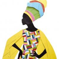 African, 2014, geverfd hout op paneel, 83x100 cm