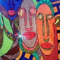 Mask Parade II | Acrylverf op doek