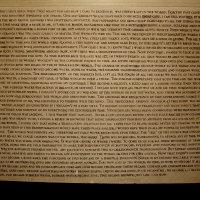 WhenWeBecameEven | 2010 | Muurschildering, houtskool, het resultaat van 14 uur lang, detentie-stijl, beschrijven van mijn droom