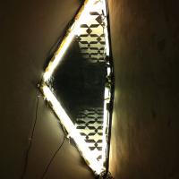 HBOT  | 2012 | Site-specific installatie, duct tape, vier TL lampen, hout, houtskool