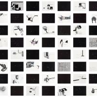 rooms | 2013 | Acrylverf, gouache op handgeschept papier (44x) vlok, koper pigment, olieverf on HDF (44x)