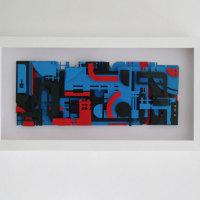 No title, i.c.w. ZEDZ | 2013 | Reliëf collage, spuitverf op papier