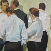 Bankiers | Olieverf op doek