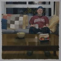Domestic scene / celestial | 100 x 100 cm