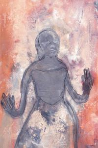 Princess with Bendy Arms – gouache on paper 2012